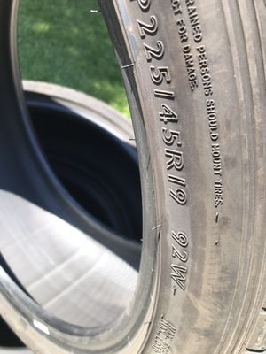 4 tires size 21545r19 for Sale in Patterson, CA