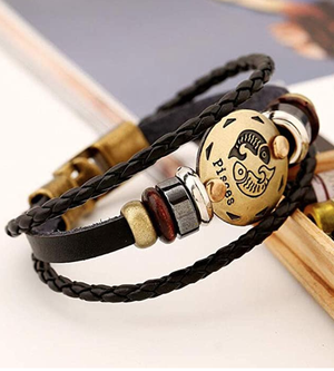 12 Constellations Multilayer Leather Bracelet, Pisces for Sale in Irvine, CA