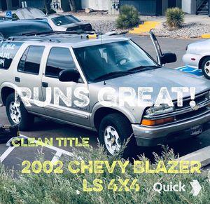 2002 Chevy Blazer LS 4Wd, 4DR, 4.3 liter v6 engine for Sale in Albuquerque, NM