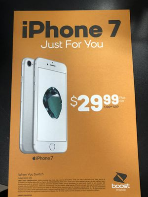 iPhone 7 $29.99 when you switch to boost for Sale in Kinston, NC