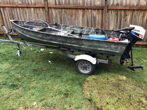 12ft Aluminum boat for Sale in Snohomish, WA