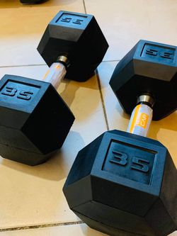 Brand New 🎁CAP 35 LBS Pairs Standard Rubber Dumbbells 💪🏼 for Sale in Stockton,  CA