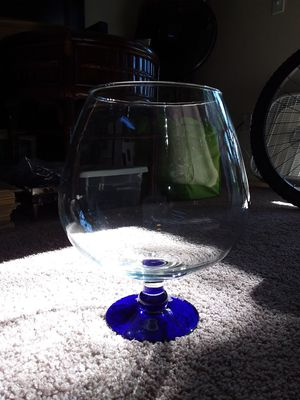 Giant Wine Glass with blue base for Sale in Orangevale, CA