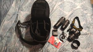Nikon D60 Automatic Manual Digital Camera 18-55mm with 55-200mm & 70-300mm lenses Case & Accessories for Sale in Dallas, TX