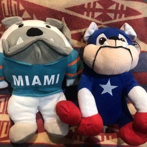 Miami Bulldogs Plush toys for Sale in Monterey Park, CA