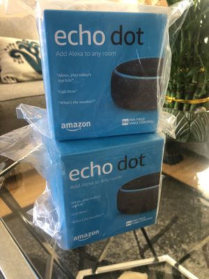 Two new Echo dots 3rd gen for Sale in Victorville, CA