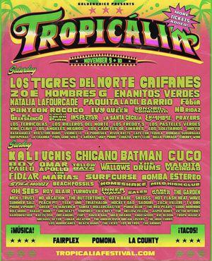 2 Tropicalia Tickets for Saturday for Sale in Hacienda Heights, CA