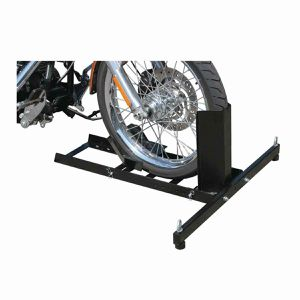 New 1800 lb capacity motorcycle stand wheel chock for Sale in Newport News, VA