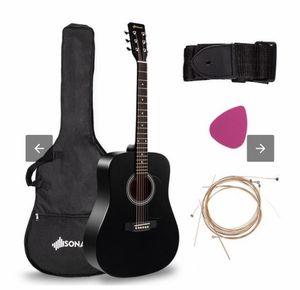 "Sonart 41"" 6 Strings Acoustic Folk Guitar-Black MU10029BK for Sale in Commerce, CA"