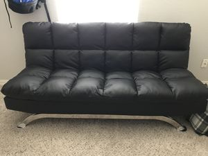 Faux Leather Futon for Sale in Fairview, TX