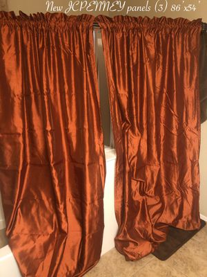 New beautiful curtains 3 piece $100 firm from JCPENNY for Sale in Laveen Village, AZ