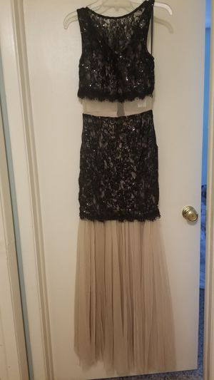 New long black lace and sheer dress 7 for Sale in Tampa, FL