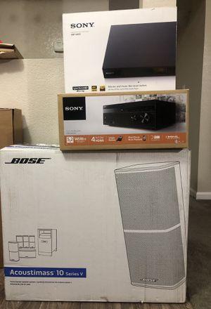 Bose Acoustimass 10 series 5 / Sony 5.2/ Sony Blu-ray 4K for Sale in Chandler, AZ