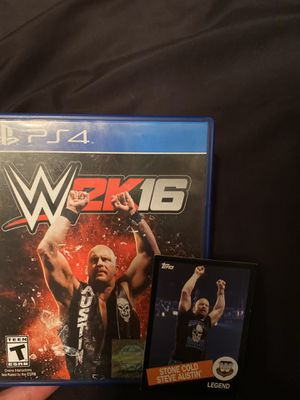 WWE 2K16 + Collectors Card - PS4 for Sale in Anaheim, CA