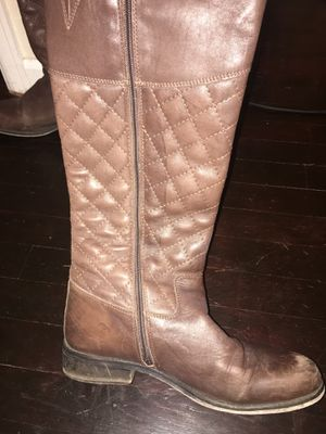 Steve Madden Reggo Brown Leather Boots size 10 women's for Sale in Denver, CO