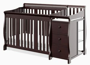 Brown wood infant/toddler crib. for Sale in Washington, DC