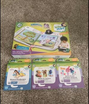 Leap Frog Leap Start 3D with 3 books for Sale in Allentown, PA