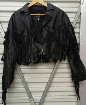 Vintage MOTORCYCLE leather women's jacket size L. 1980'S for Sale in Aurora, CO