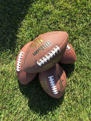 4 NFL Wilson Footballs for Sale in Winneconne, WI