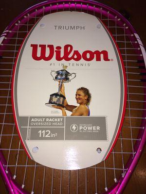 Wilson Triumph Adult Racket Tennis Oversized Head for Sale in Aurora, IL