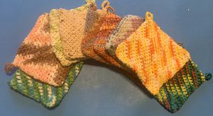 Crochet potholders for Sale in Coldwater, MI