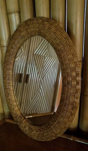 Woven Rattan Mirror for Sale in San Diego, CA