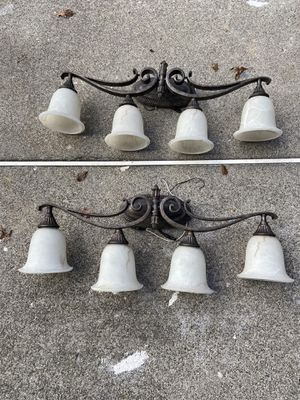 4 Light Wall Lamp Glass Shade for Sale in Parsippany, NJ