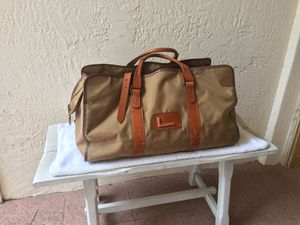 Large Vintage Lancel Weekender Nylon Leather Trim Duffle Traveler Explorer Bag for Sale in Coral Gables, FL
