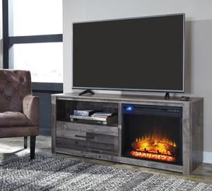 Derekson Gray LG TV Stand with Fireplace Insert | W200-68