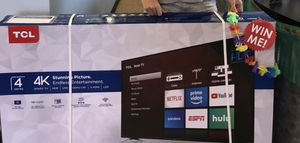 """TCL 55"""" 4K UHD LED Smart TV with Roku, 55S423 for Sale in Irvine, CA"""