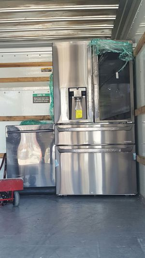 LG Black Stainless 4 Door refrigerator + Dishwasher for Sale in Philadelphia, PA