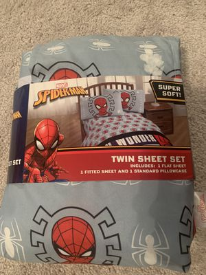 Brand new Spider-Man twin sheet set for Sale in Winfield, IL