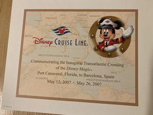 Disney Cruise Line - Inaugural Transatlantic certificate for Sale in Auburndale, FL