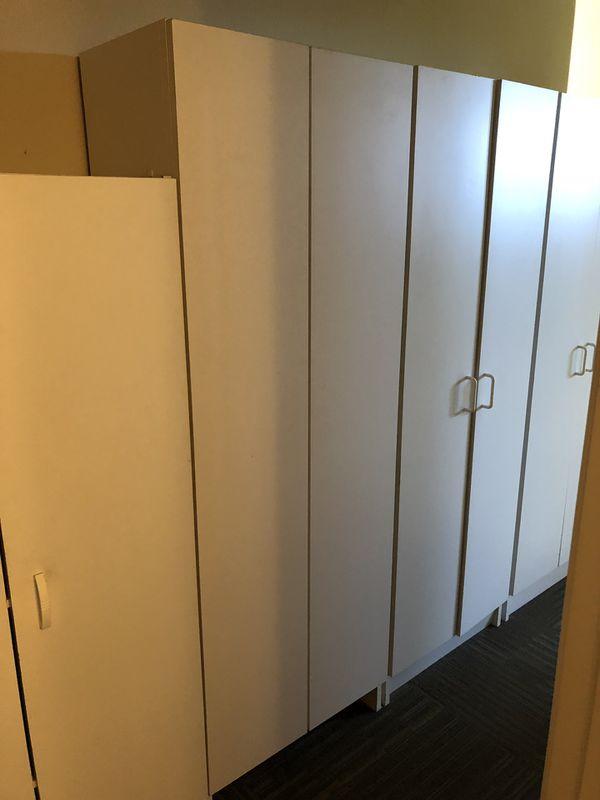 White cabinet storage