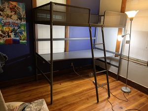 IKEA loft bed and desk for Sale in Boston, MA