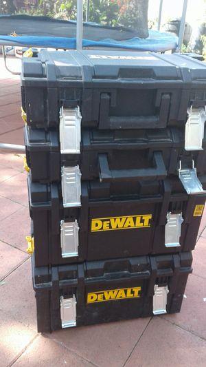 4 DeWalt TOOL Boxes for Sale in Santa Ana, CA