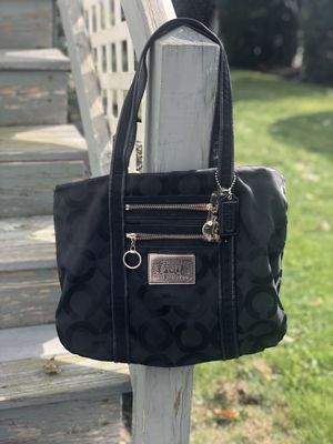 Authentic Coach Poppy Signature Tote Bag Black for Sale in Malden, MA