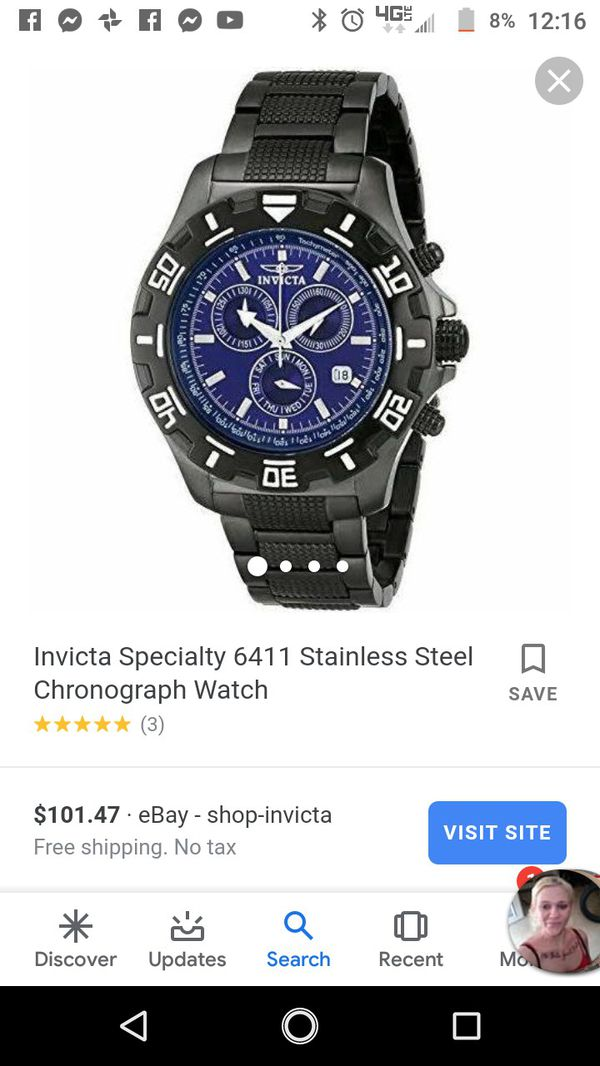 Invicta specialty 6411 Stainless steel watch