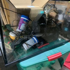 10 Gallon Fish Tank With Filter, Light, & Decorations for Sale in Cape Coral, FL