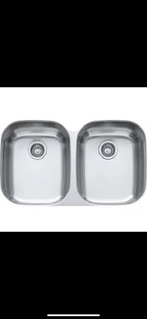 FRANKE RGX120 Regatta Double Bowl Stainless Steel Kitchen Sink Undermount 35x22 for Sale in Tacoma, WA