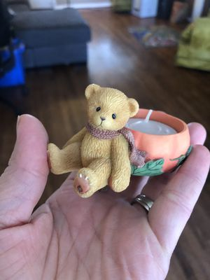 Vintage Cherished Teddies pumpkin candle for Sale in San Leandro, CA