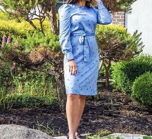 H&M Blue Satin Midi Print Dress for Sale in Lorton, VA