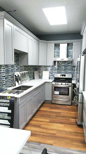 Kitchen cabinets + countertop + tile + quartz + waterproof for Sale in Norwalk, CA