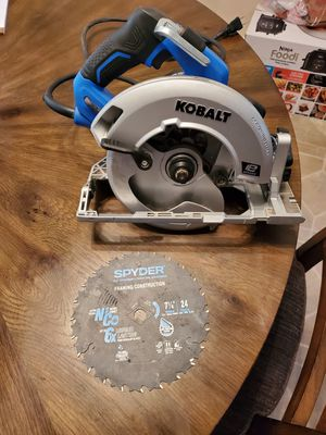 "Kobalt 15amp Circular Saw with Spyder 7-1/4""/24 tooth Framing Blade for Sale in Greensboro, NC"