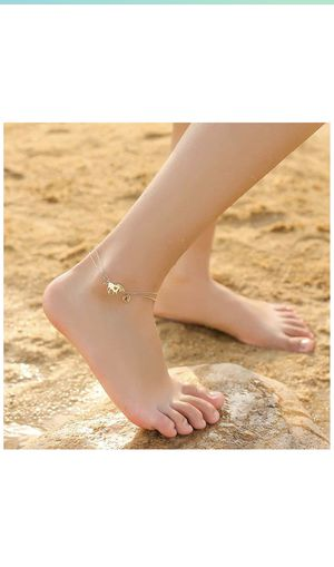 Horse Ankle Bracelets for Women, 14K Gold Filled Layered Horse Letter Initial Anklets for Women, Gold Horse Ankle Bracelet Alphabet Initial Horse Ank for Sale in Irvine, CA