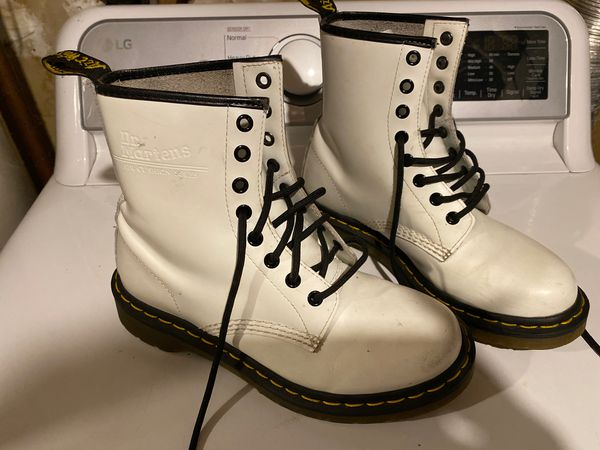 White dr martens in size 7