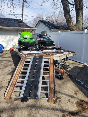 Snowmobile trailer bundle cash or trade for Sale in Garden City, MI