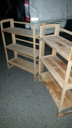 Pair of collapsible book cases for Sale in Cranston, RI