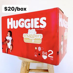 Size 2 (12-18 Lbs) Huggies Little Snugglers (84 Baby Diapers) for Sale in Anaheim, CA