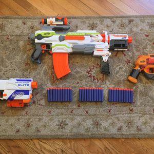 Nerf Gun Lot With Modulus Ecs-10, Retaliator, And More for Sale in Manhattan Beach, CA